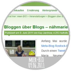meer-BIO - Bloggen über Blogs (09.06.2011)