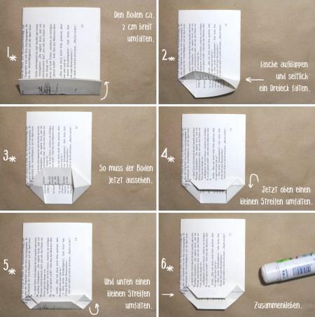 Papiertüte mit Bodenfalte - Faltanleitung für einen Adventskalender