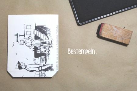 Adventskalender aus Buchseiten - Bestempeln