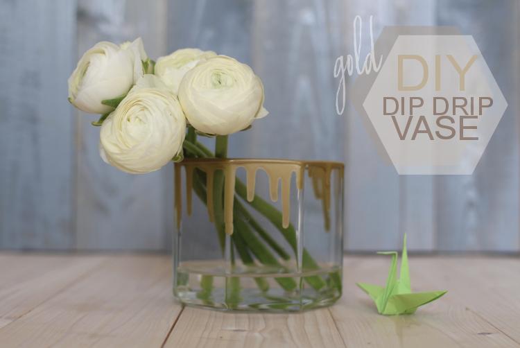 DIY dip drip vase gold by naehmarie.de