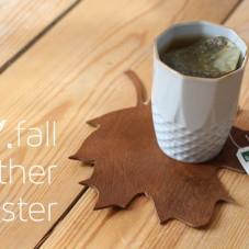 DIY fall leather coasters