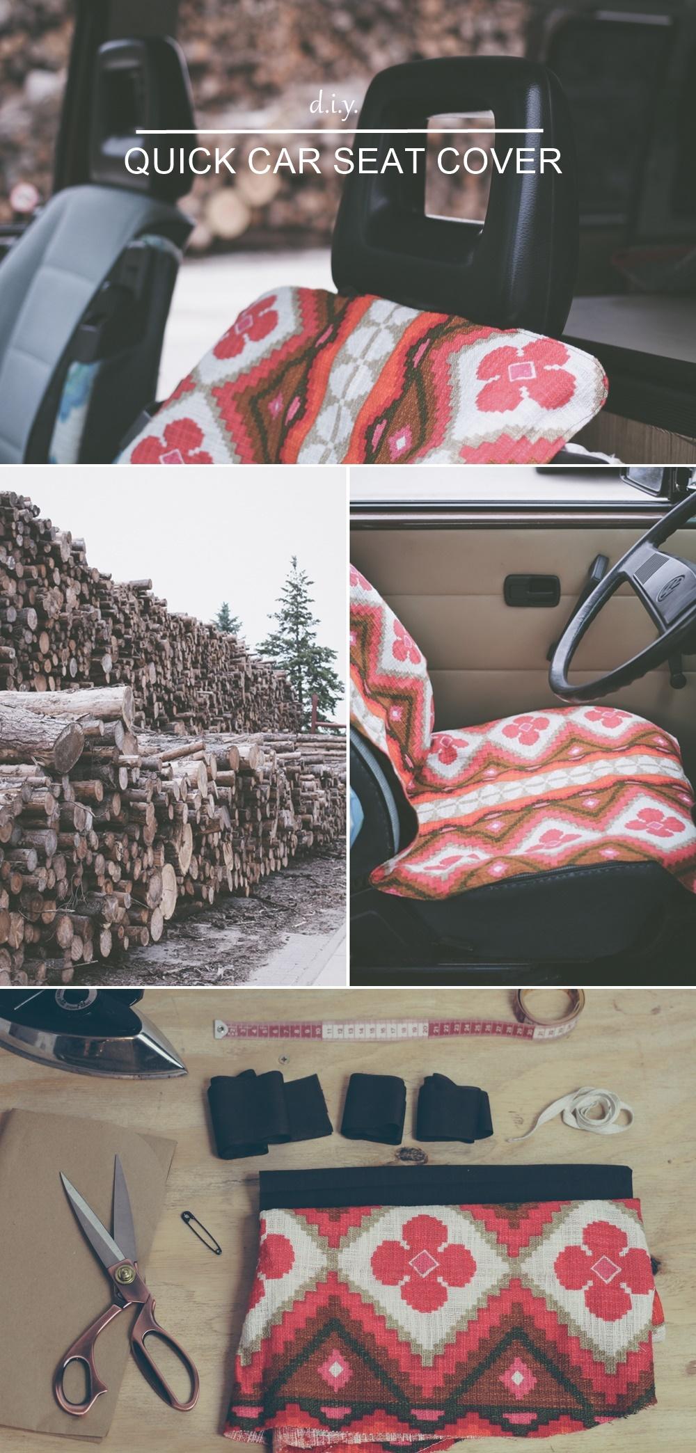 diy quick car seat cover schneller autositzschoner aus baumwolle n hmarie. Black Bedroom Furniture Sets. Home Design Ideas